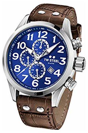 TW steel Unisex Adult Chronograph Quartz Watch with Leather Strap VS63