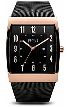 Bering Mens Analogue Solar Powered Watch with Stainless Steel Strap 16433-166