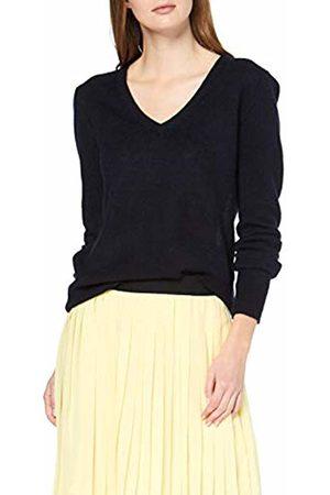 SPARKZ COPENHAGEN Women's's Pure Cashmere V Neck Pullover Jumper (Navy) 8 (Size: S)