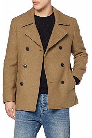 FIND Men's Wool Mix Peacoat Coat
