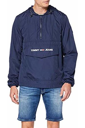 Tommy Hilfiger Men's TJM Nylon Shell Solid Popover Jacket