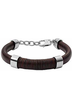 Fossil Men Bracelets - Men Stainless Steel Cuff Bracelet - JF03106040