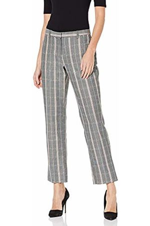 Dorothy Perkins Women's Straight Wide Check Trousers 10