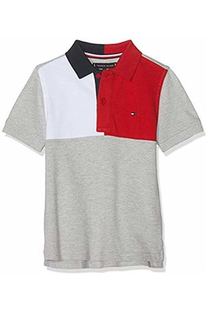 Tommy Hilfiger Boys Polo Shirts - Boy's Colorblock Polo S/s Shirt, ( Heather 004)