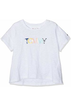 Tommy Hilfiger Girl's Colored Tommy Logo S/s T-Shirt, (Bright 123)