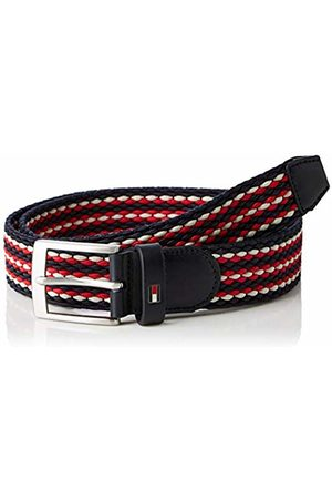 Tommy Hilfiger Men's Adan Stripe Elastic Belt 3.5 (Corporate Mix 902)