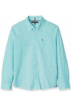 Tommy Hilfiger Boy's Essential Solid Oxford Shirt L/s Blouse, (Dynasty 303)