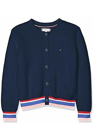 Tommy Hilfiger Girl's Essential Stripe Rib Cardigan Jumper