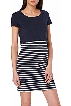 Mama Licious Women's Mllea Org June S/s Y/d Abk Dress Nf A. O (Navy Blazer Stripes: Snow )