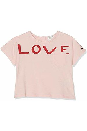 Tommy Hilfiger Baby Girls' Bold Text Grown On S/s Tee T-Shirt (Almond Blossom 634) 86