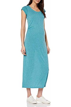 Mama Licious Women's Mlnella S/s Jersey Maxi Dress V. Turquoise (Biscay Bay Detail: Melange)