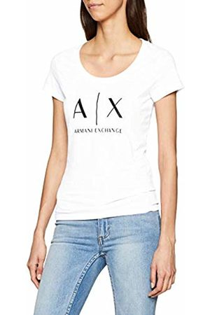 Armani Women's Logo Ss T-Shirt, (Optic 1000)