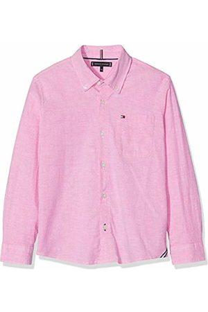 Tommy Hilfiger Boy's Essential Solid Oxford Shirt L/s Blouse Fuchsia 503
