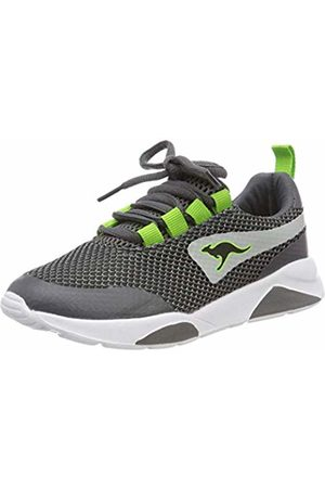 KangaROOS Boys Trainers - Kids' K-teca Low-Top Sneakers Steel /Lime 2014 12 UK