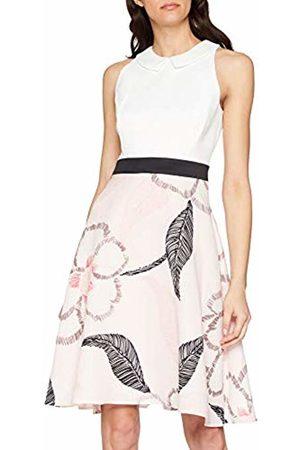 Comma, Women's 8t.902.82.5925 Dress, Multicoloured Large AOP Flower 40c3