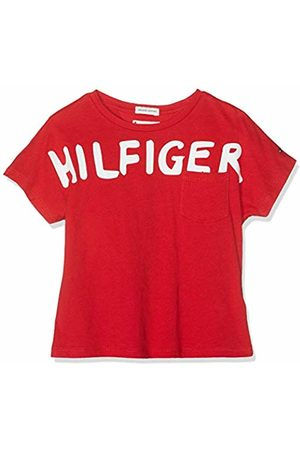 Tommy Hilfiger Girl's Bold Text Grown On S/s Tee T-Shirt, (True 635)