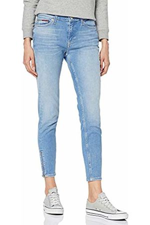 Tommy Hilfiger Women's MID Rise SKNY Nora 7/8 Zip CNYL Skinny Jeans