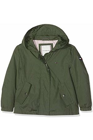 Tommy Hilfiger Girl's A- A-line Short Parka Coat (Thyme 304) 104 (Size: 4)
