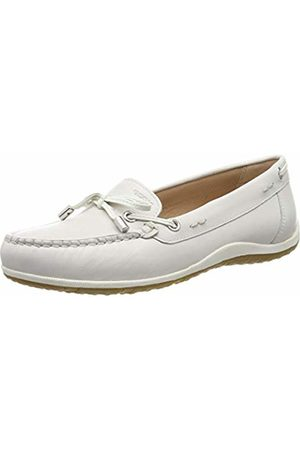 Geox D ARETHEA: White Woman Moccasins | Geox SS19