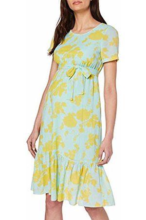 Mama Licious Women's Mlmayse Ss Woven UNK Dress (Eggshell AOP: Snapdragon)