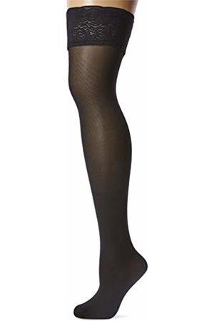 Levante Women's Romantic 50 Hold-Up Stockings, 50 DEN, Schwarz)