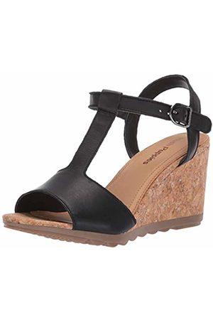 Hush Puppies Women's Pekingese Tstrap Platform Sandals, ( 007)