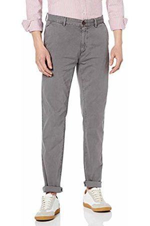 Hackett Hackett Men's Hkt Chino Strch Gmtdye Trouser (Smoke 926) W32/L34 (Size: W32/Long)