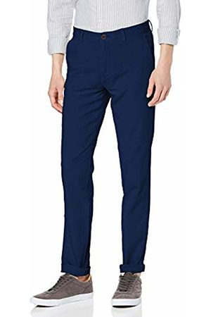 Hackett Hackett Men's Hkt Chino Strch Gmtdye Trouser (Atlantic 5PO) W35/L32 (Size: W35/Regular)
