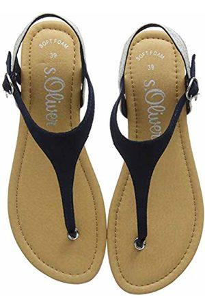 s.Oliver Women's's 5-5-28136-22 Flip Flops (Navy Comb. 891) 3.5 UK