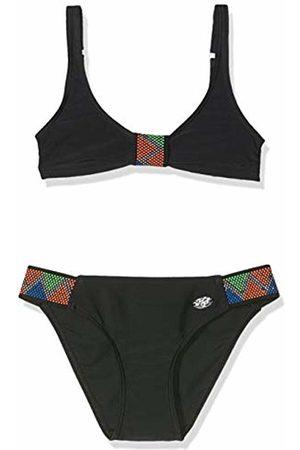 Haute Pression Girls' J9050 Swimwear Set, (Noir 001)