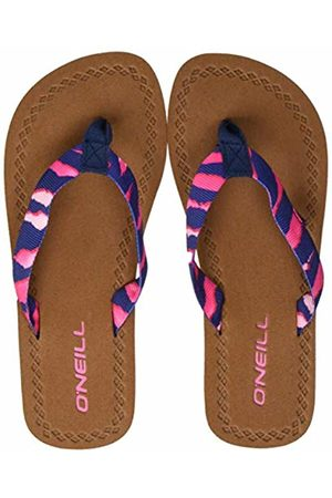 O'Neill Girls' Fg Woven Strap Sandals Shoes & Bags, ( AOP W/ OR 5940)