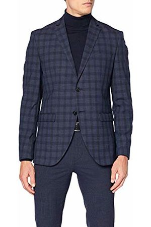 Selected Homme NOS Men's SLHSLIM-MYLOLOGAN Navy Check BLZ B NOOS Suit Jacket, Mehrfarbig
