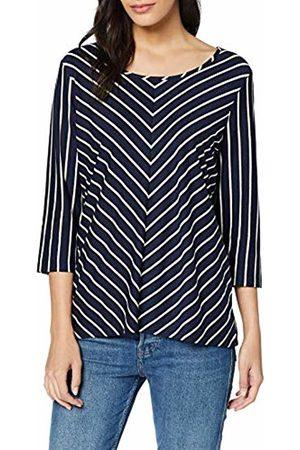 GINA LAURA Women's Shirt Relaxed, Schräger Streifen Long Sleeve Top