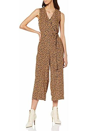 warehouse Women's Animal Jumpsuit (Tan Print 11)