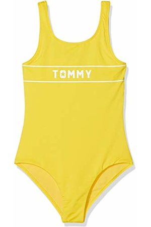 Tommy Hilfiger Girls Swimsuit Gelb (Empire 700)