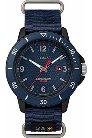 Timex Mens Analogue Classic Solar Powered Watch with Textile Strap TW4B14300