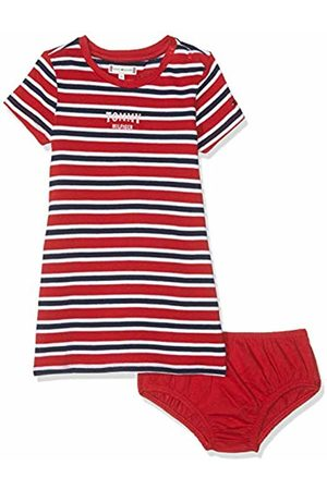 Tommy Hilfiger Baby Girls' Multi Stripe Knit Dress S/s True 635