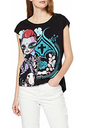 Inside Women's's 7sfd45l T-Shirt, (Negro 1)