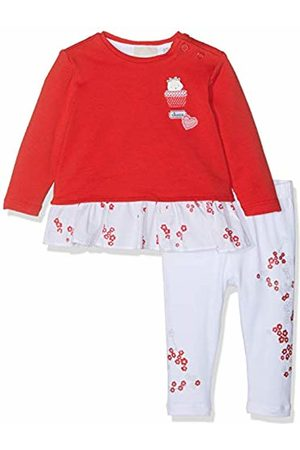 chicco Baby Girls' Completo T-Shirt + Leggings Clothing Set (Bianco E Rosso 037) 18 (Size: 050)