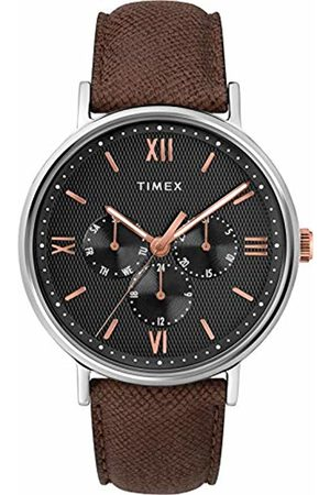 Timex Mens Analogue Classic Quartz Watch with Leather Strap TW2T35000