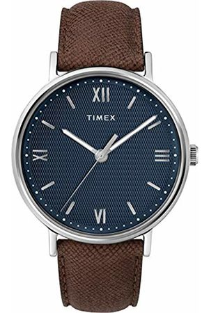 Timex Mens Analogue Classic Quartz Watch with Leather Strap TW2T34800