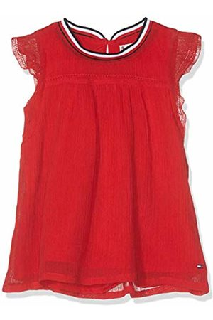 Tommy Hilfiger Baby Girls' Sporty Solid Crepe Top S/s Vest, (True 635)