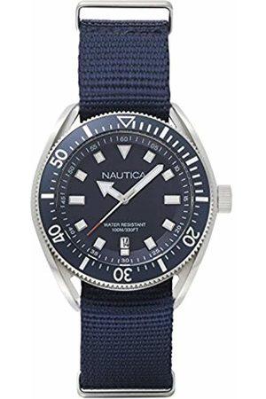 Nautica Mens Analogue Quartz Watch with Textile Strap NAPPRF001