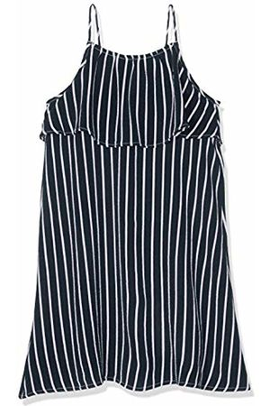 Tommy Hilfiger Girls Fine Stripe Dress Slvls ( Iris 002)