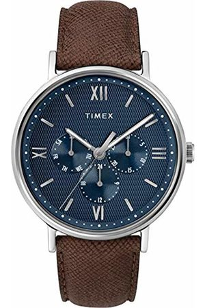 Timex Mens Analogue Classic Quartz Watch with Leather Strap TW2T35100