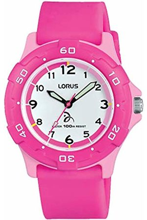 Lorus Girls Analogue Quartz Watch with Silicone Strap RRX17GX9