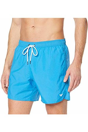 Armani Men Boxer Shorts - Underwear Men's 9P435 Trunks Turquoise (Turchese 00032) Small (Manufacturer size: 48)