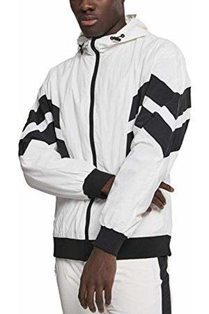 Urban classics Men's Crinkle Panel Track Jacket (Wht/Blk 00224)