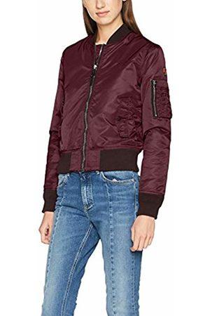 Schott NYC Schott Women's JKTACW Bomber Jacket Rot (Dark Burgundy 64) 10 (Size: Medium)