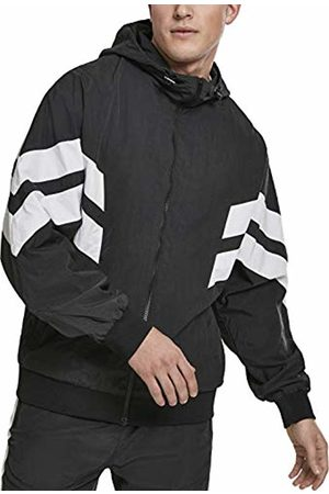 Urban classics Men's Crinkle Panel Track Jacket (Blk/Wht 00050) XXX-Large